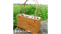 women handbag rattan grass handwoven made in bali