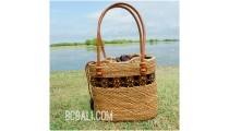 women tote bag straw rattan ata hand woven casual ethnic design