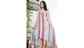 bali clothing long dress sleeveless fashion handmade hand printing