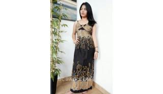 bali fashion batik rayon printing long dress clothes pattern design