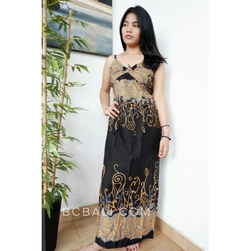 Bali Fashion Batik Rayon Printing Long Dress Clothes