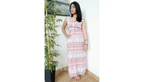 bali fashion batik fabric rayon printing long dress patterned design