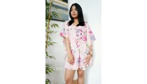 bali sun dress fabric printing rayon casual style flower design