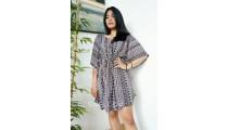 bali sun dress fabric printing rayon casual women fashion design