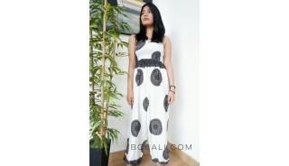 bali women jumpsuit clothes fashion design pattern white color