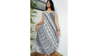 balinese fashion style clothing handmade design long dress batik