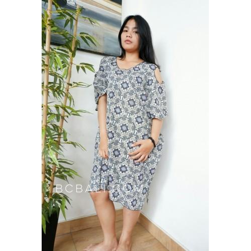 Batik Fashion Clothing Balinese Designer Dress Handmade
