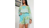 casual balinese clothes short pants sets women fashion fabric print bali