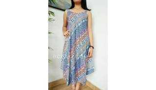 fashion clothes balinese long dress women hand printing rayon fabric