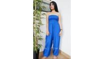 jumpsuit bali fashion design clothes rayon solid color blue