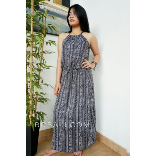 Ladies Clothing Long Dress Fabric Pattern Rayon Bali Fashion Design