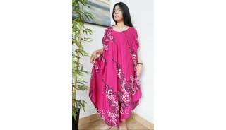 large clothing long dress fashion handmade hand printing red