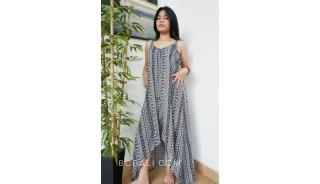 large clothing long dress fashion handmade hand printing