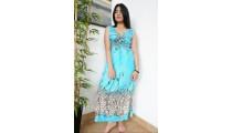 long dress bali batik hand printing handmade clothing design