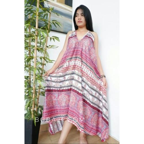 Long Dress Bali Batik Hand Printing Handmade Clothing Long Dress