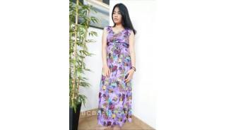 long dress bali batik hand printing handmade ladies clothing