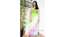 long dress bali batik hand printing rainbow handmade clothing