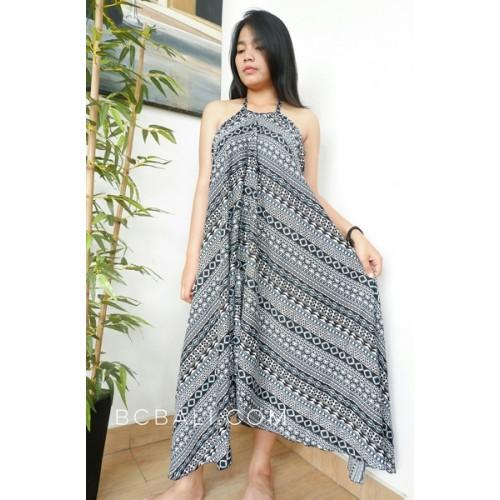 Long Dress Bali Batik Hand Printing Handmade Ladies