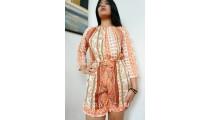 short dress bali clothing fashion fabric printing rayon orange