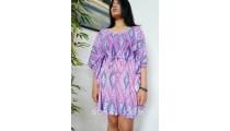 short dress bali clothing fashion fabric printing rayon purple