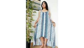 women clothing long dress fashion sleeveless handmade hand printing