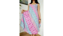 women fashion clothes dress long wide rayon stamp handmade