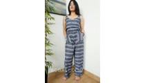 women fashion with jumpsuit hand printing rayon batik made in bali