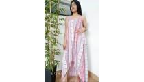 women long dress clothing fashion handmade hand printing bali