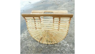 bamboo bags fan design base color summer season handmade