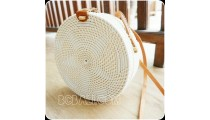 rattan circle sling bags knitted embroidery handmade