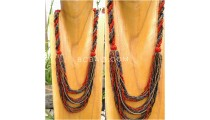 multiple strand beads necklace mix wrapted line circle new style