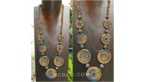 necklaces golden beads 7mate spiral combination color
