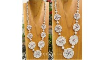 beads necklaces circling 7mate spiral design new beige color