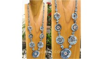 beads necklace 7circle spiral design new combination color