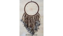 balinese dream catcher hackle pheasant feathers long leather