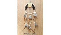 bead stone dream catcher long feather leather suede indonesian design