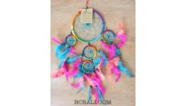 colorful multiple feathers dream catcher nylon string new design