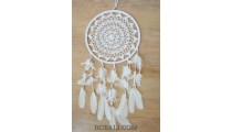 crochet bali handmade dream catcher big circle leather suede feathers