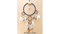 bali dream catcher design 5circle feather with leather