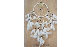 bali feather dream catcher 5circle wall decoration ornament