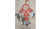 balinese dream catcher handmade feathers leather suede 5circle