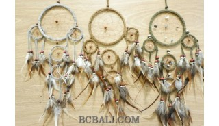 balinese handmade style feathers dream catcher leather wholesale