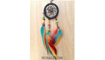 colorful feather dream catcher keyrings accessories hanging