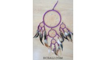 dream catcher 5circle handmade purple and black color