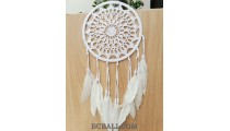 dream catcher crochet design wall hanging large size circle