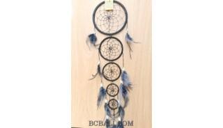 dream catcher nylon string 5circles bone wind chimes bali black