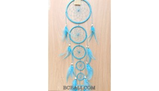 dreamcatcher nylon string 5circles bone wind chimes turquoise