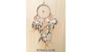 ethnic handmade dream catcher balinese design 5circle brown