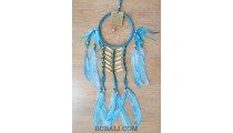 ethnic peaceful dreamcatcher native american feathers with bone turquoise