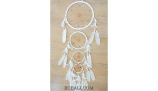 four circles feathers dream catcher wind chimes wall decoration